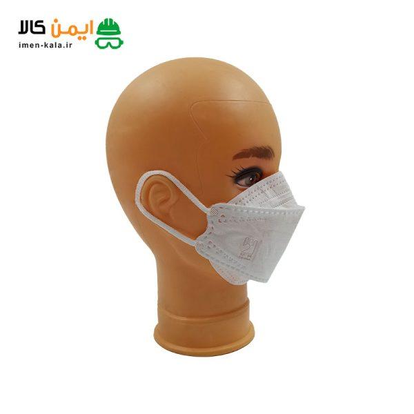 ماسک سه بعدی پنج لایه مدل KF94 با فیلتر ملت بلون   بسته 25 عددی