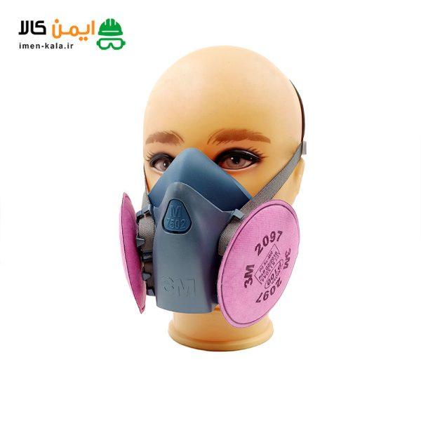 ماسک نیم صورت تری ام (3M) مدل 7502 | اصل + فیلتر p100 2097